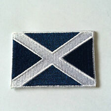 Embroidered Scottish Flag - Flag of Scotland Iron on Sew on Patch Badge