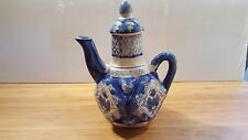 Vintage Chinese Decorative Tea Pot Display Diamond Floral Pattern Hand Painted