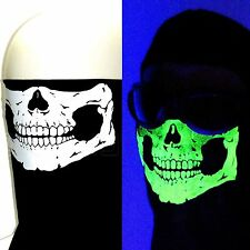 AMERICAN MADE BLACK GLOW IN THE DARK SKULL HALF FACE 'DANNA WIND MASK DUST SCARF