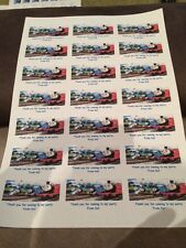 21 Thomas And Friends Personalised Party Bag Stickers Favour Labels