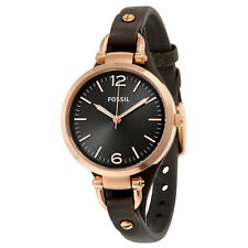 Fossil Georgia Leather Strap Ladies Watch ES3077