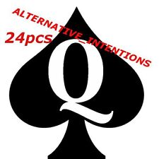 24 pc Queen Of Spades QOS Temporary Tattoo Fetish BBC Hotwife cuckold cuck Slut1