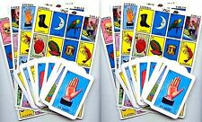 2 X Authentic Mexican Loteria Bingo Chalupa Game: 20 Boards + 2 Deck Of 54 Cards