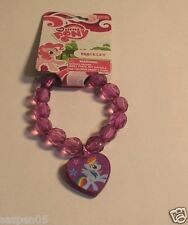 My Little Pony Jewelry Beaded Charm Bracelet Rainbow Dash  Purple  NEW