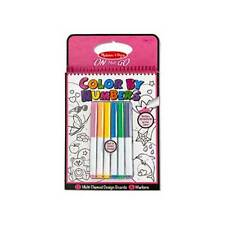 Melissa and Doug - On The Go - Color by Numbers Book - Pink NEW