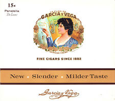 Lot of 8 - La Flor De GARCIA y VEGA  Cigar Box Inner Label