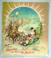 The Night Before Christmas, or A Visit of St Nicholas ~ 1896 ~~ McLoughlin Linen