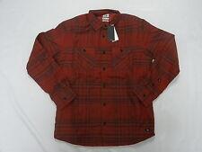 Quiksilver Dufflink L/S Modern Fit Woven Thermal Flannel Shirt Sz Medium