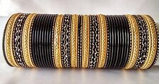Indian Bollywood Ethnic 48pcs Black Colored  Bridal Bangles Set Jewelry 2.8.
