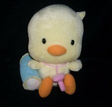 """6"""" NISSIN FOOD PRODUCTS CO 2005 BABY YELLOW DUCK STUFFED ANIMAL PLUSH TOY CHINA"""