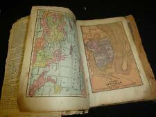 Antique Late 1800s Holy BIBLE International Series w/ Maps extras Feedsack cover