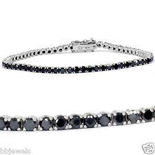 "3ct Irradiated Black Diamond Tennis Bracelet in 14K Gold Over Size-7"""