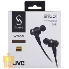 NEW BOXED JVC HA-FW01 HAFW01 CLASS-S WOOD Earphone Headphones