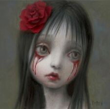 Mark Ryden Rose Blood Tears Girl Sad Gothic Portrait Crying Art Nightmare
