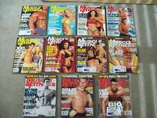 11 MUSCLE & FITNESS 2000-2003 WEIDER bodybuilding CROSSFIT HOMEGYM FITNESS