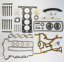 HEAD GASKET SET BOLTS TIMING CHAIN KIT GEARS AGILA CORSA C 1.2 16V Z12XE 01-04