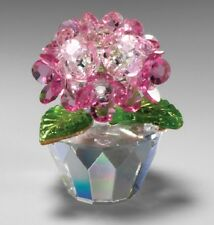 New Crystal World Hydrangea Pink Figurine Miniature