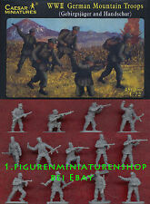 1:72 FIGUREN H067 WWII GERMAN MOUNTAIN TROOPS - CAESAR