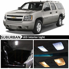 15x 2007-2014 Chevy Suburban White LED Package Interior Kit