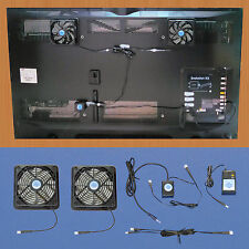 Plasma & LCD TV cooling fans with 12 volt trigger-controller & multispeed / 12v