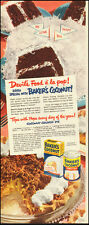 1951 Vintage ad for Baker's Coconut`Recipe, Coconut Crunch Pie (052314)