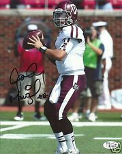 JOHNNY MANZIEL TEXAS A&M AGGIES SIGNED 8X10 PHOTO W/JSA COA #3