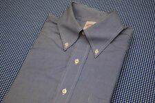 BROOKS BROTHERS BLUE MICRO HOUNDSTOOTH COTTON SHIRT 14.5