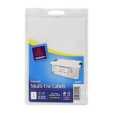 """Avery Removable Multi-Use Labels, 6 X 4, White, 40/pack"""