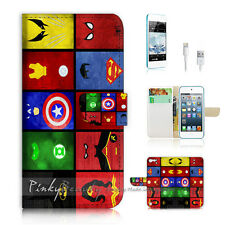 iPod Touch iTouch 5 Print Flip Wallet Case Cover! Superhero Collection P0139