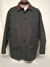 POLO RALPH LAUREN GREEN CANVAS HUNTING BARN JACKET COAT FLANNEL LINED MENS M  A+