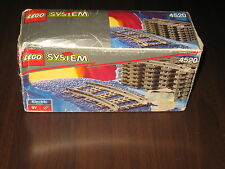 Rare Lego System 4520 1991 Curved Rails New MISB (electric system 9v)