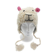 Fun Sheep Handmade Winter Woollen Animal Hat Fleece Lining One Size, UNISEX