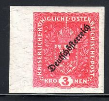 1918-19 Austria Scott 197 (Mi. 244U) overprinted imperforate MNH granite paper