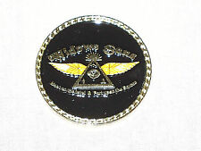 Masonic Challenge Coin Widows Sons Motorcycle Square Compass Fraternity NEW!