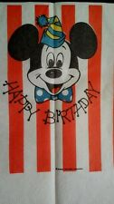 1964 Mickey Mouse Happy Birthday  Paper Table Cloth Beach Products Discoloring