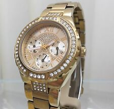 Guess Ladies Watch Rrp £ 169 Swarovski Crystal Dial Calendario (p130