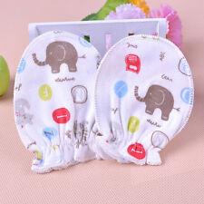 3Pair Baby Boys Girls Infant Newborn Anti Scratch Cotton Mitten Gloves Handguard