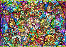 Tenyo Japan Jigsaw Puzzle DS-1000-764 Disney All Star Stained Glass(1000 Pieces)