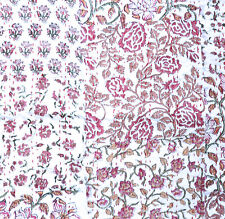 """Indian Hand Block-Printed Cotton Kantha Stitch C/Cover - Dusty Pink -18""""/45 cm"""
