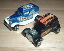 Lot 2 HOT WHEELS 1988 '32 Ford Ship Shape & 1968 '32 Ford Vicky Black w/Flames
