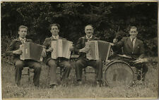 PHOTO ANCIENNE - VINTAGE SNAPSHOT - ORCHESTRE MUSIQUE ACCORDÉON - MUSIC BAND
