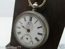 Unusual Silver Fob Watch With Dog To The Dial c-1880's  No Reserve