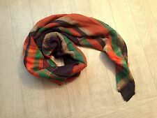 ZARA Women's Checked/Striped Scarf(Multi Color. Size:M)