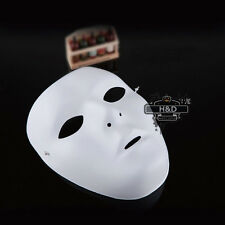 Woman White Drama Costume PVC Plastic Face Mask Halloween Ghost Dance Step Party