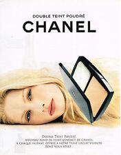 PUBLICITE ADVERTISING 025  1997  CHANEL cosmétiques DOUBLE TEINT