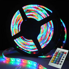 5M 300 LED Strip Light 3528 SMD/RGB Ribbon Tape Roll Lampes+ 24Key IR Controller
