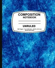 Unruled Composition Notebook : Blue Marble, Unruled Composition Notebook, 7....