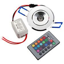 3X 3W LED Einbaustrahler Einbauleuchte Deckenlampe Decken Spot RGB mit Remote