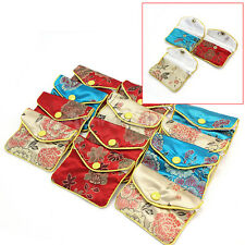 12Pcs Chinese Embroider Pouches Jewelry Gift Cosmetic Bags Coin Purses Zipper