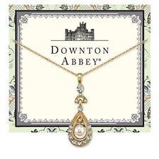 Downton Abbey Gold-Tone Crystal and Simulated Pearl Pendant Necklace 17694